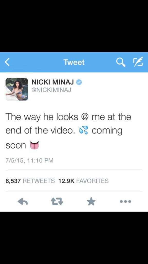 """I can't breathe  RT @Cloudy_goldrush: Really, @NICKIMINAJ  ? This the """"look"""" you was talkin' bout? http://t.co/pRovwpDCDn"""