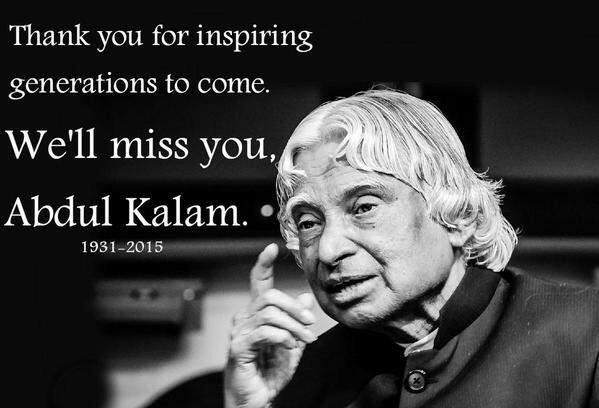 Tribute to Dr. A.P.J. Abdul Kalam