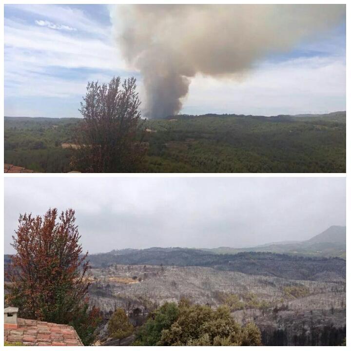 24 hores separen aquestes dues imatges #IFOdena #incendis #IIFF #Bages #Anoia http://t.co/FGof9PbJJC via @ADFGarraf