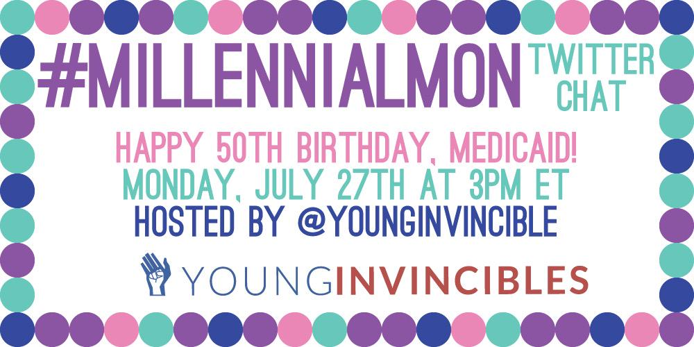 We're counting down to our favorite Monday activity! Just one hour left before #millennialmon #HappyBirthdayMedicaid http://t.co/LFNkky081B