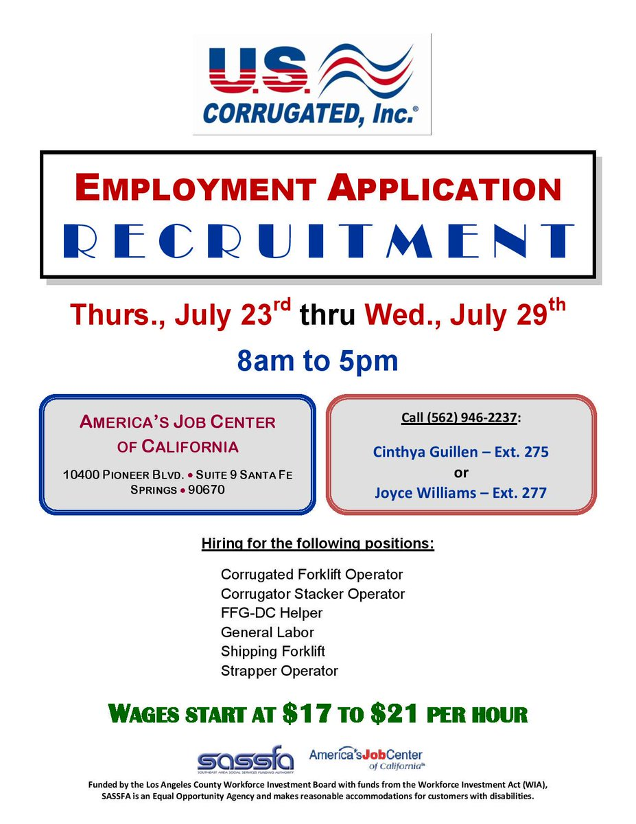 Another great employment opportunity! Apply between 7/23-7/29! Wages start at $17!  #careerdevelopment #CSS #careers