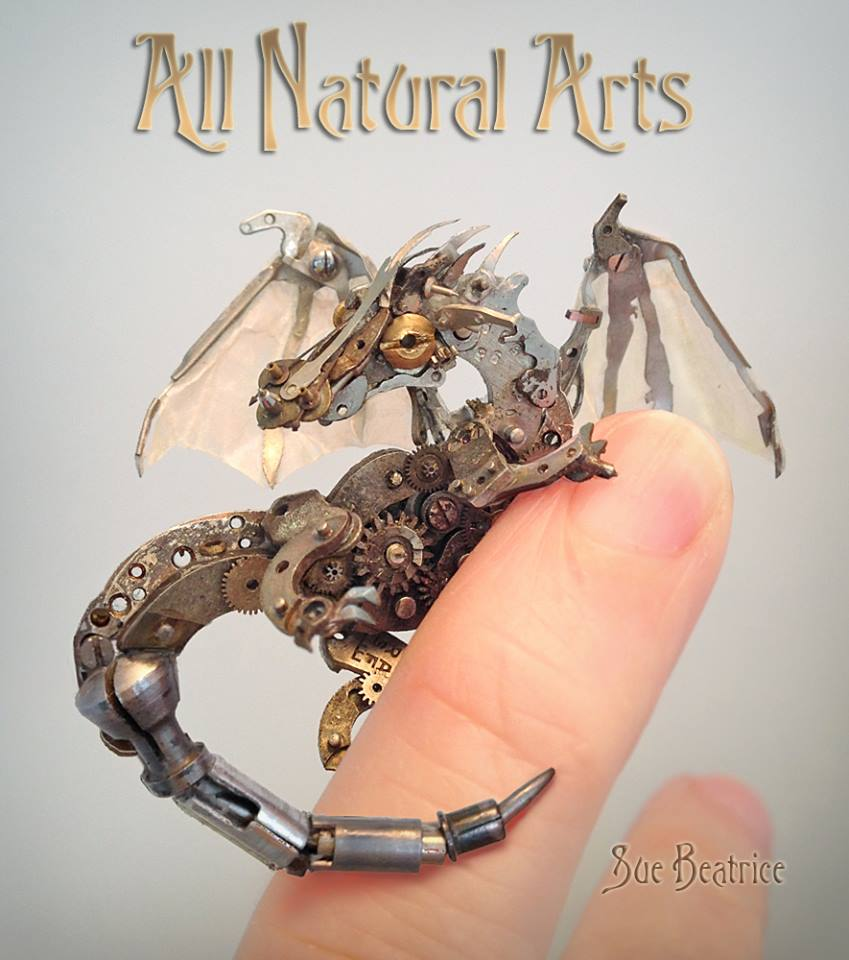 #Steampunk Awesome of the Day: #Dragon made from Watch Parts by Sue Beatrice via @Sharon_H_Kenny #SamaCuriosities