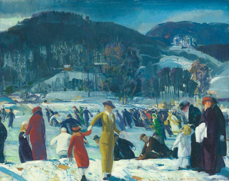 """@VicoLudovico: #AmericanRealism #AshcanSchool Love of Winter,1914 by George #Bellows @alecoscino @Asamsakti @asemra http://t.co/8fxTcTOOSf"""