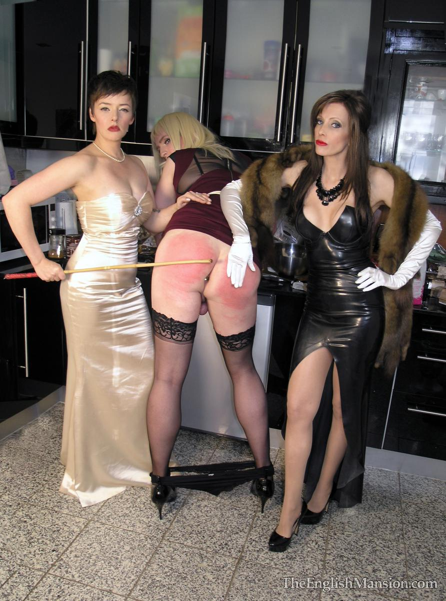 4 slaves punished and humiliated by master he fucks and slap 3