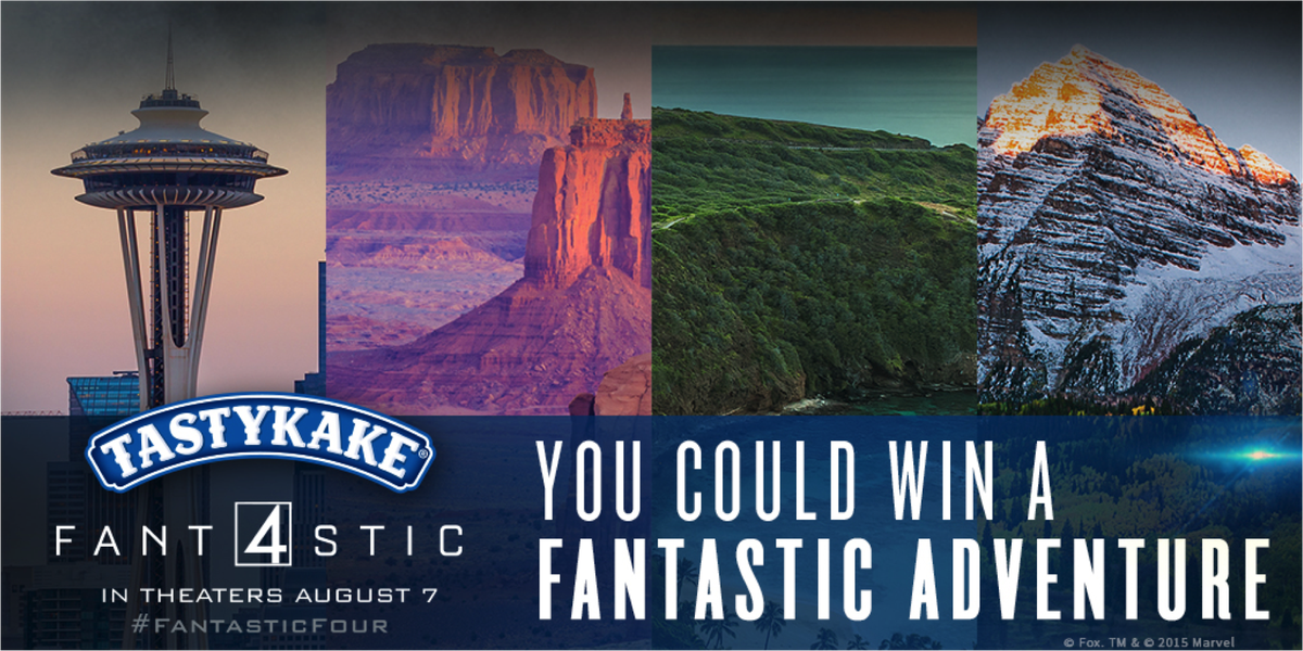 You could win an adventure with #Tastykake & @FantasticFour! NPN, U.S, 18+ Enter: http://t.co/DENGHnTlKl http://t.co/2SJVQtTr8K