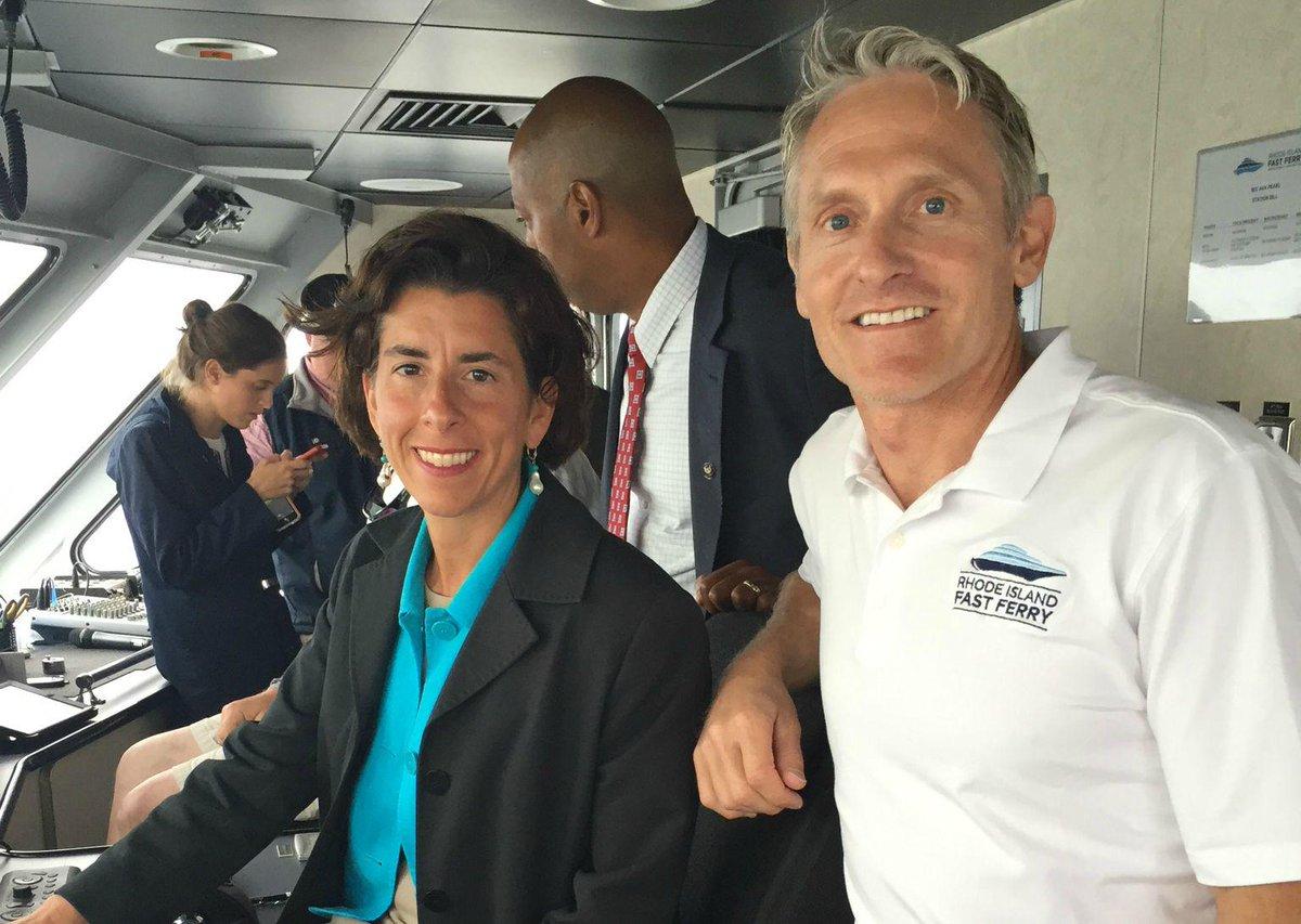 Charles A Donadio Jr On Twitter Honored To Have Governor Gina Raimondo Onboard The Ava Pearl Today BlockIslandWindFarm RIFastFerry GinaRaimondo
