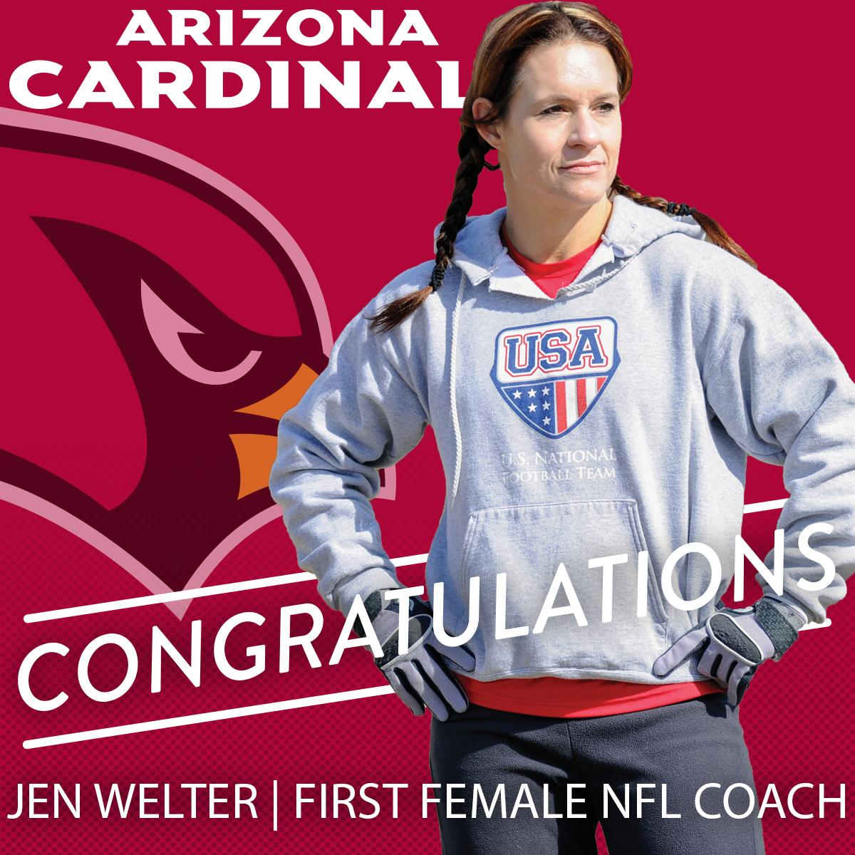 Jen Welter Becomes First Female NFL Coach and Few in Football Will Care