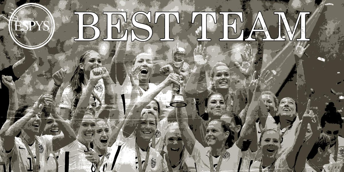 Congratulations to World Cup champions @ussoccer_wnt for winning #BestTeam. http://t.co/zibRe0QYLp