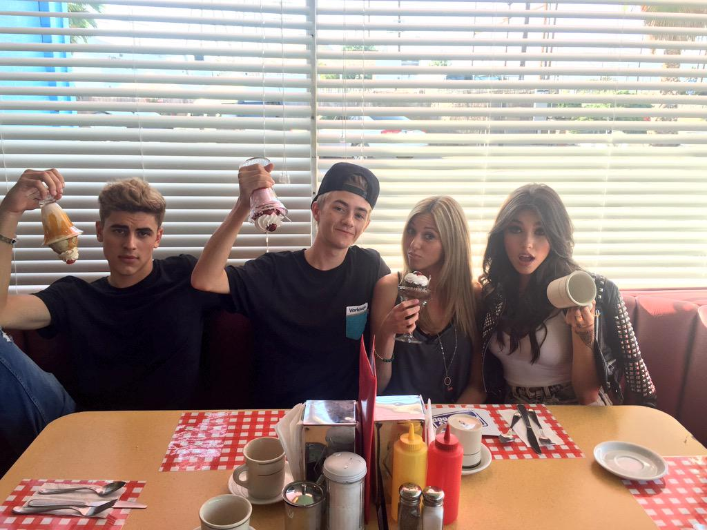 Double date at the diner! But wait it's not real