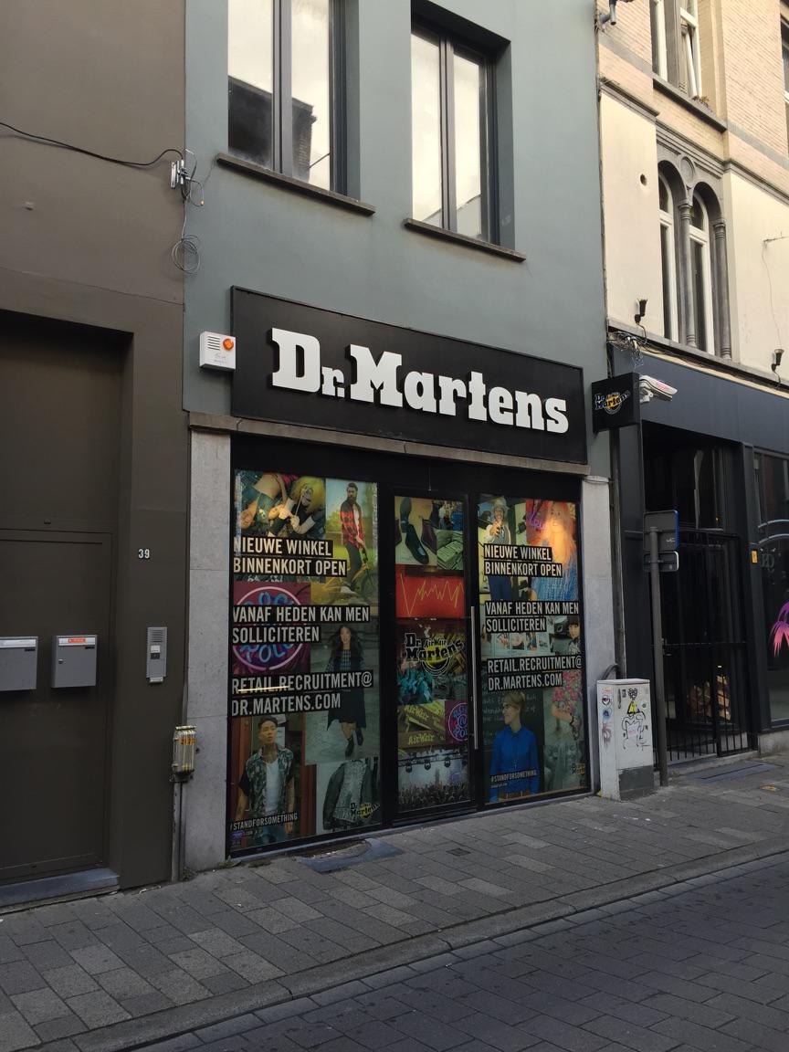 risicoklasse II voor Dr.Martens geplaatst in Antwerpen