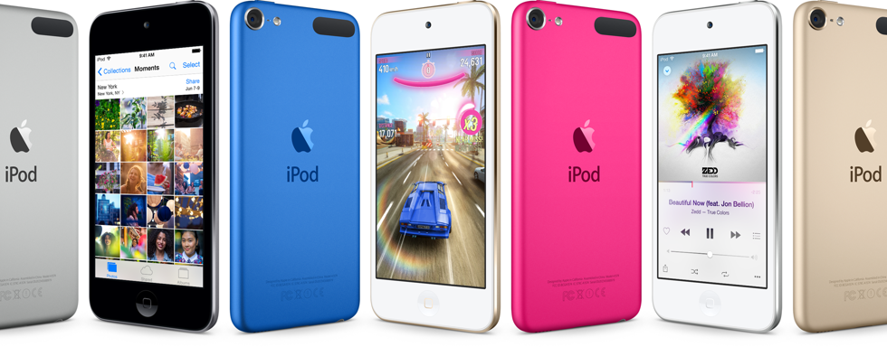The new iPod Touch comes in more colors, including gold: