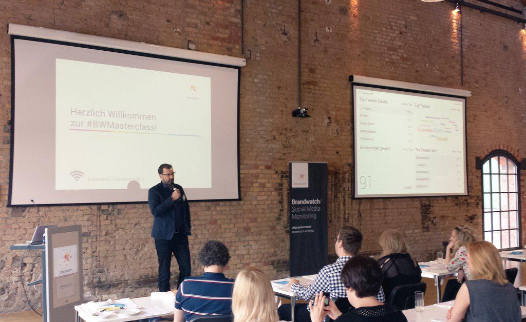 Jetzt bei der #BWMasterclass: Keynote von @joodoo9 zur Mission und Vision von Brandwatch. http://t.co/6GvDHkh0Po