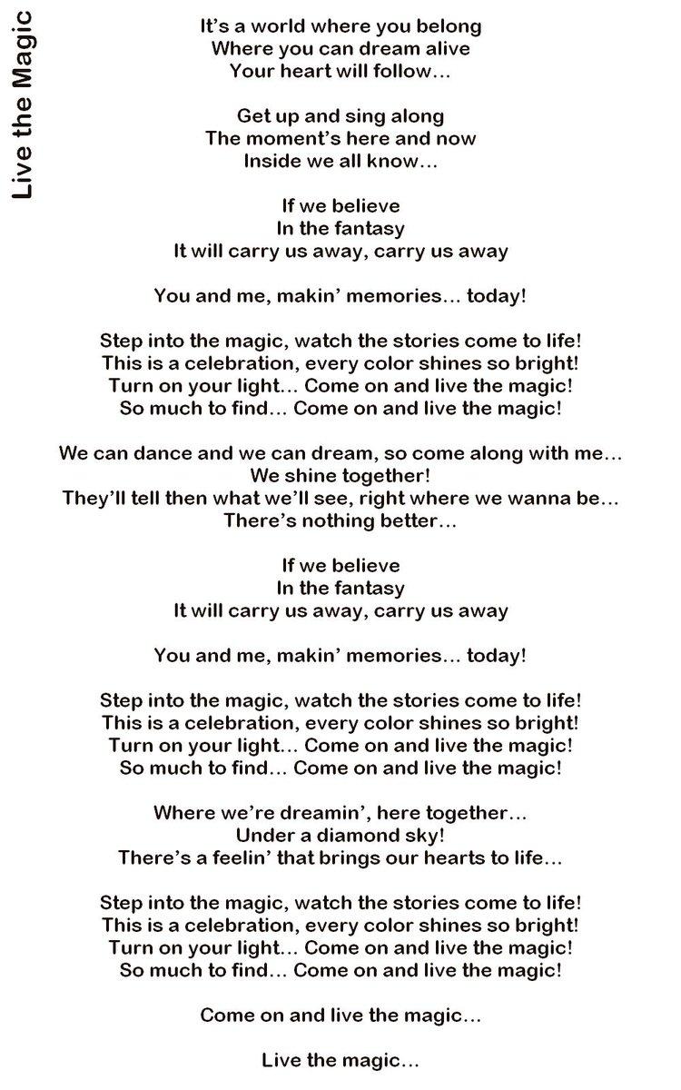 Lyric brazil song lyrics : DisneylandBerry on Twitter: