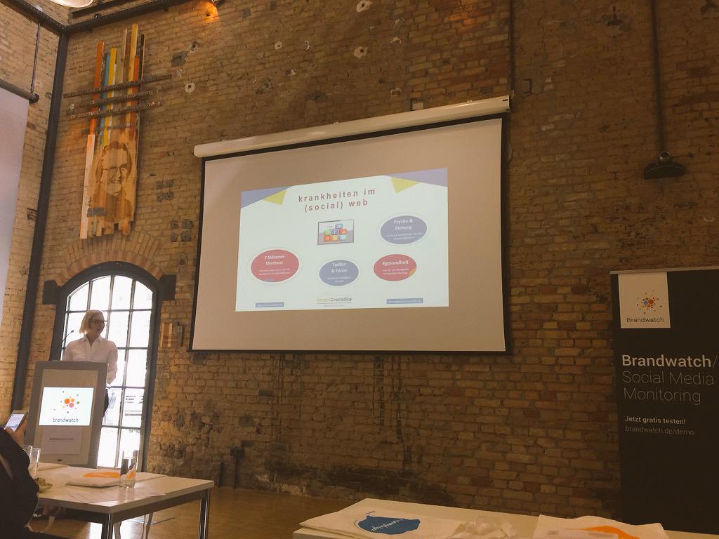 Krankheiten im Social Web. Super spannender Vortrag von Sabrina Sturm. #BWMasterclass #Brandwatch #monitoring http://t.co/dHjBJg72bR