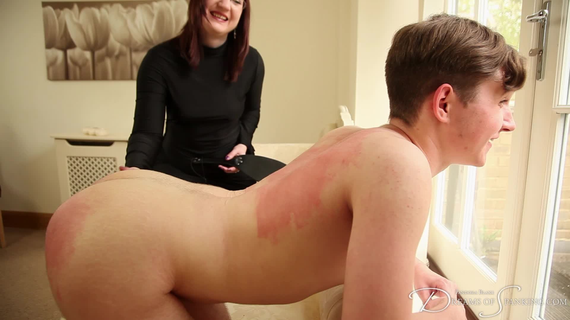 bad boy naked spanked asses by a sexy women
