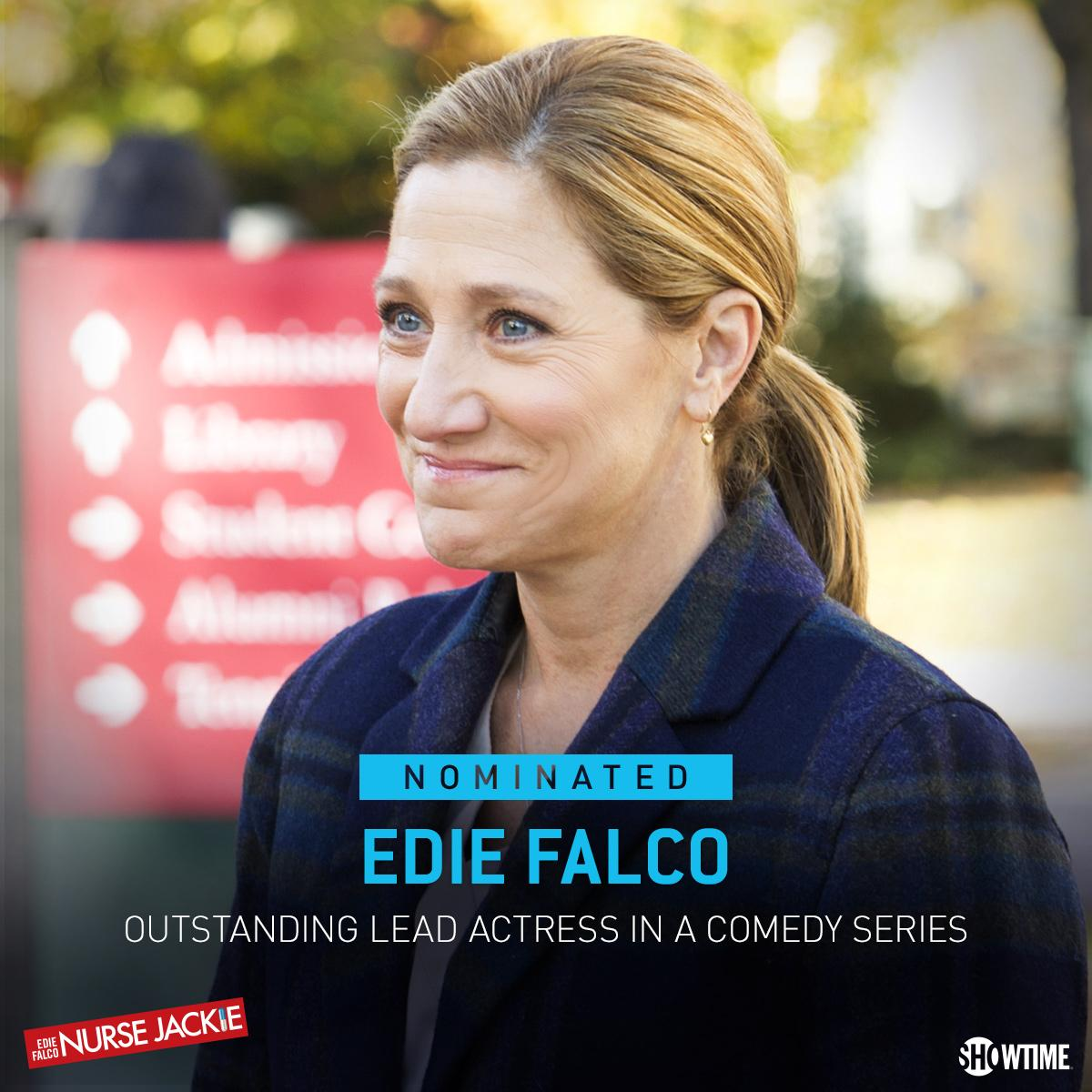 Congrats to Edie Falco!! She is now tied for the most Lead Actress nominations in the history of #Emmys! #NurseJackie http://t.co/VsVIGZFFmk