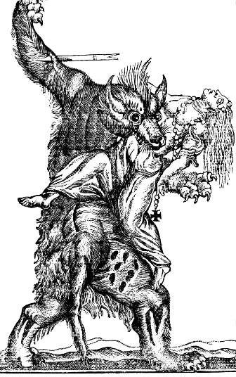 Image result for medieval werewolf woodcut