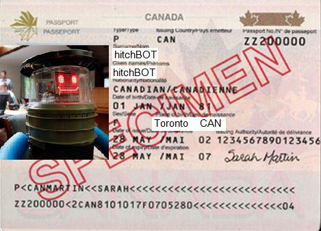 Canadian hitchhiking robot @hitchBOT is traveling from Boston to CA! Don't forget your passport! #hitchBOTinUSA http://t.co/8Pwv5ezoVx