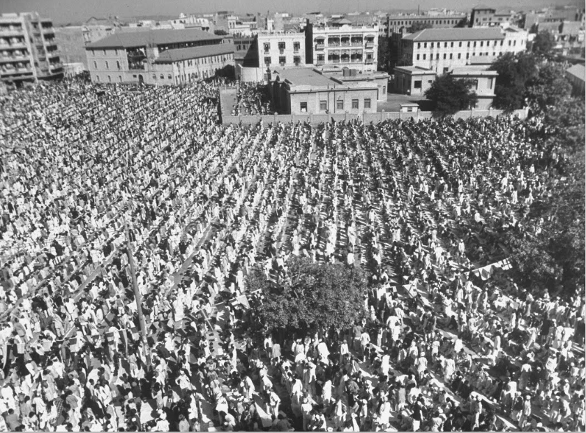 Eid prayers in Karachi, 1947. First Eid after Pakistan's independence. http://t.co/lDdM2RpEsg