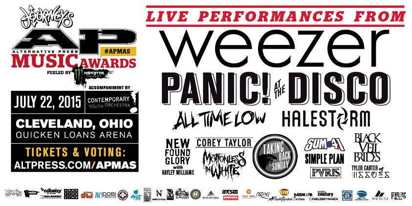 Need tix for the @AltPress Awards?! We can help. RT for a chance to win 4! http://t.co/k71rFZni4u #APMAs http://t.co/nlLtIswdft