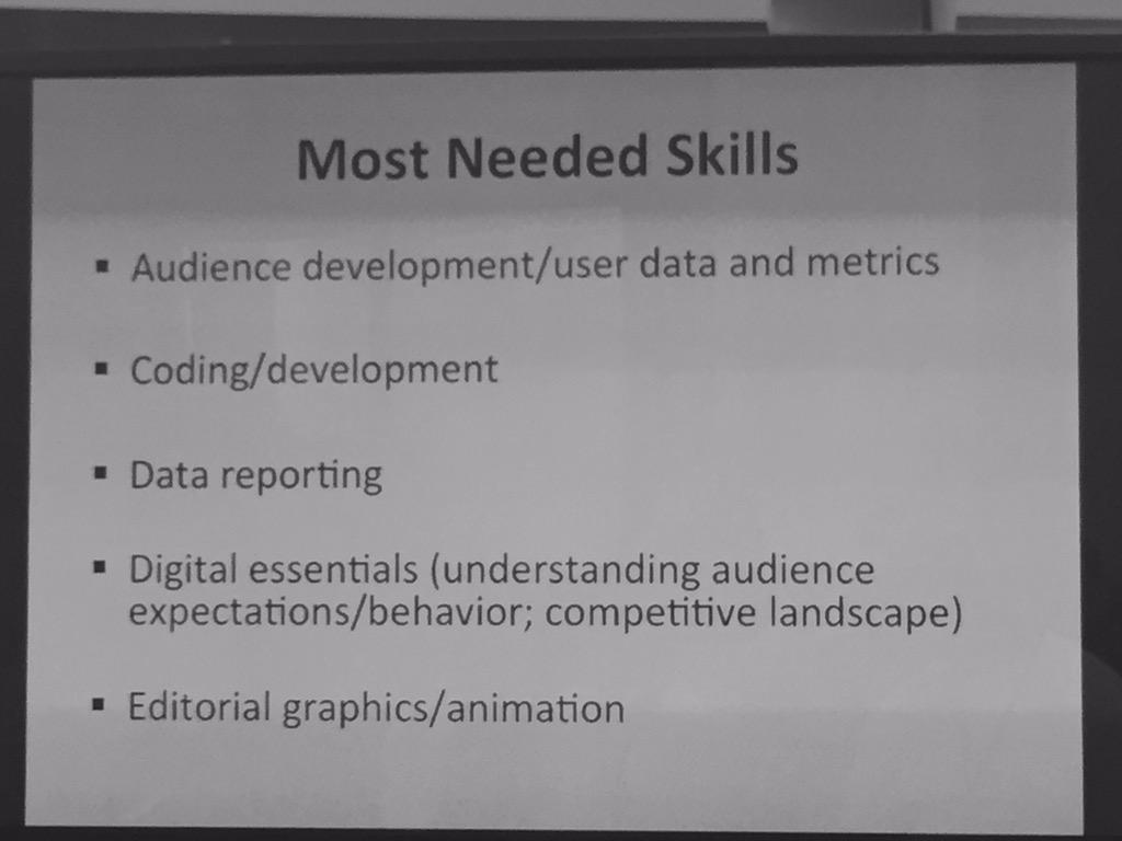 Most needed skills. #esj_summit http://t.co/0pCQFtvhZB