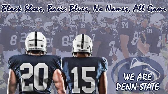 penn state no names on jerseys