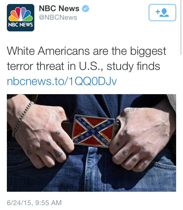 NBC 'News' White Americans biggest terror threat