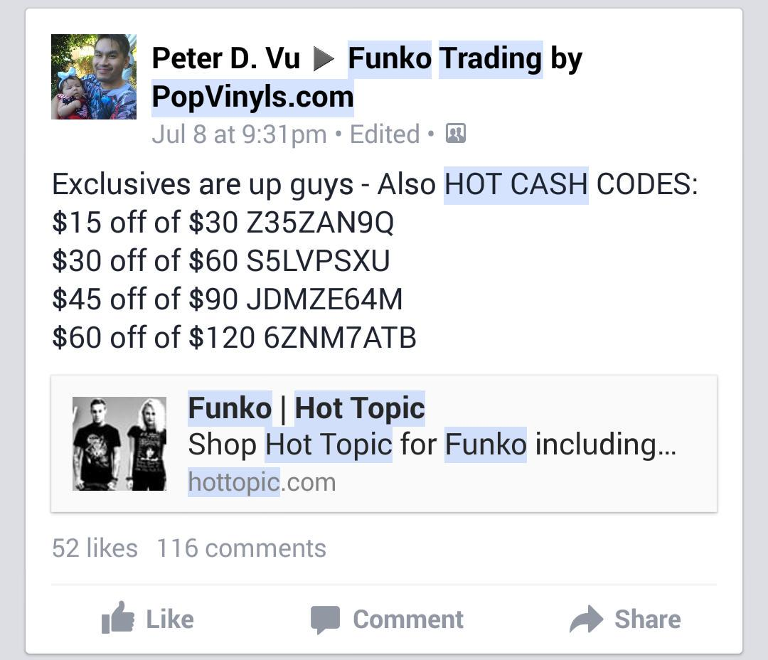 hot cash codes