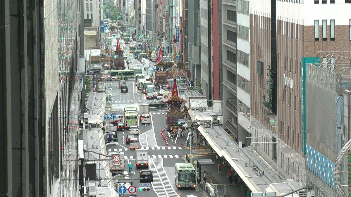 本日の祇園祭 前祭山鉾巡行は、予定通りに実施されます。KBS京都テレビでは午前8:30より前祭山鉾巡行の様子をオンエアします。http://t.co/rFanB5YcXH http://t.co/F8sPTRTBuW