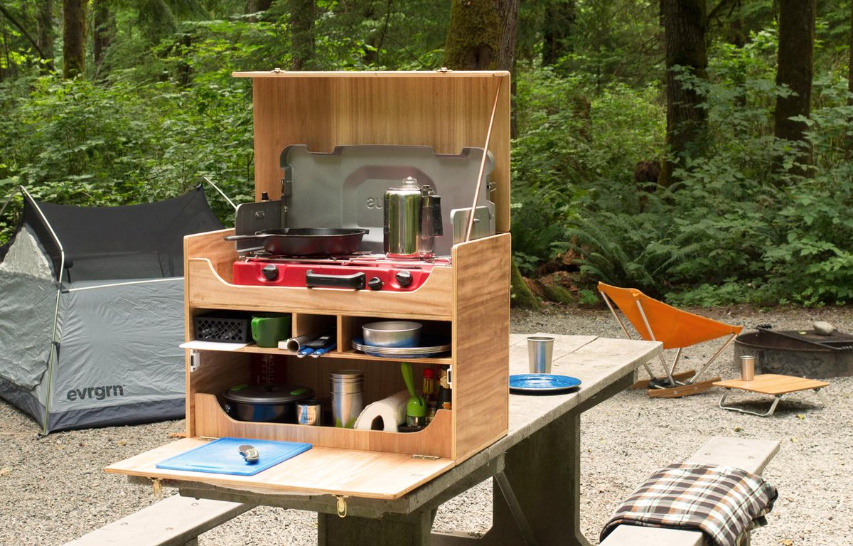 Cool Camp Kitchen More Camping Outdoor Camping Kitchen Camping Ideas
