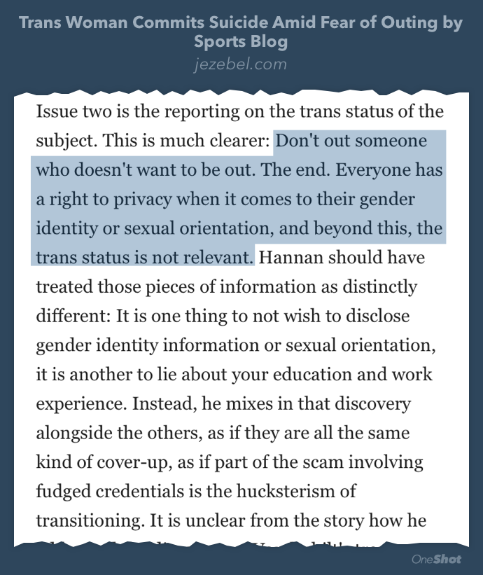 Gawker/Jezebel on the ethics of outing people (January 2014) http://t.co/BJ9r2RCv7M http://t.co/L6sTMhVwGs