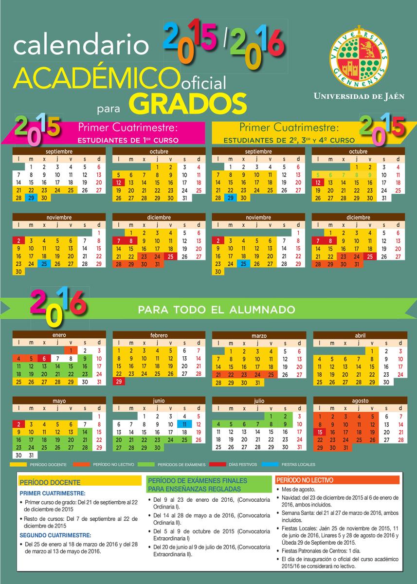 Calendario Ujaen.Estudiantes Ujaen On Twitter Calendario Academico Definitivo 2015