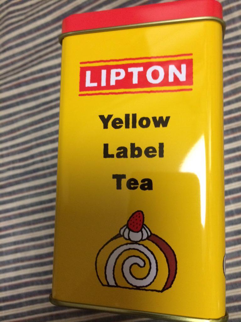 リプトンの期間限定缶がレトロで可愛いです! http://t.co/85IjUC2RzO