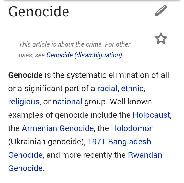 examples of genocide in history Published: mon, 5 dec 2016 according to the dictionary the word genocide (n) means the systematic and planned extermination of an entire national, racial, political, or ethnic group.