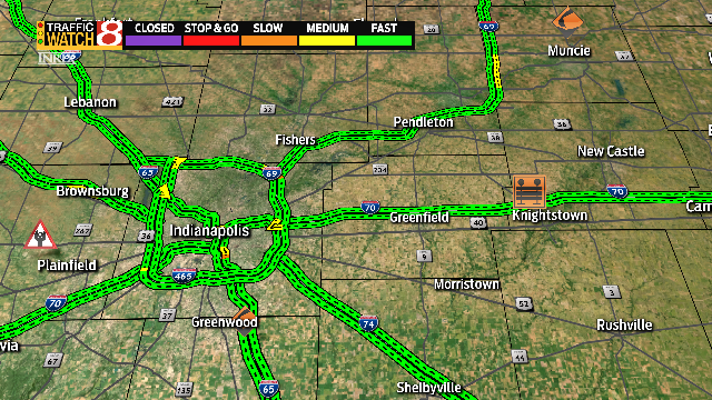 Knightstown Indiana Map.Indy Traffic Accident I 70 Near Knightstown Indiana Closed Due To