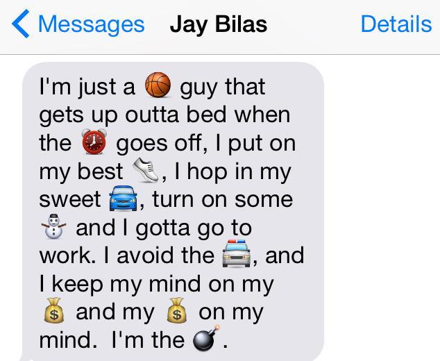 .@JayBilas & other ESPNers describe a typical #ESPN workday through emojis #WorldEmojiDay http://t.co/NweCleOzcE http://t.co/k8NNxRyU9u