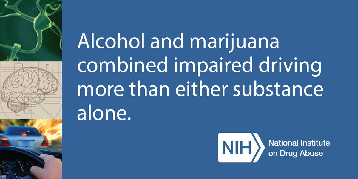 T2 Alcohol & marijuana combined impaired driving more than either one alone. http://t.co/6s9Piwd3cu #DruggedDriving http://t.co/QUGo8LvSIe
