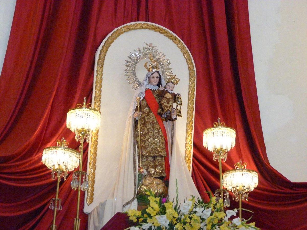 Imagen de la Virgen del Carmen en Teziutlán.
