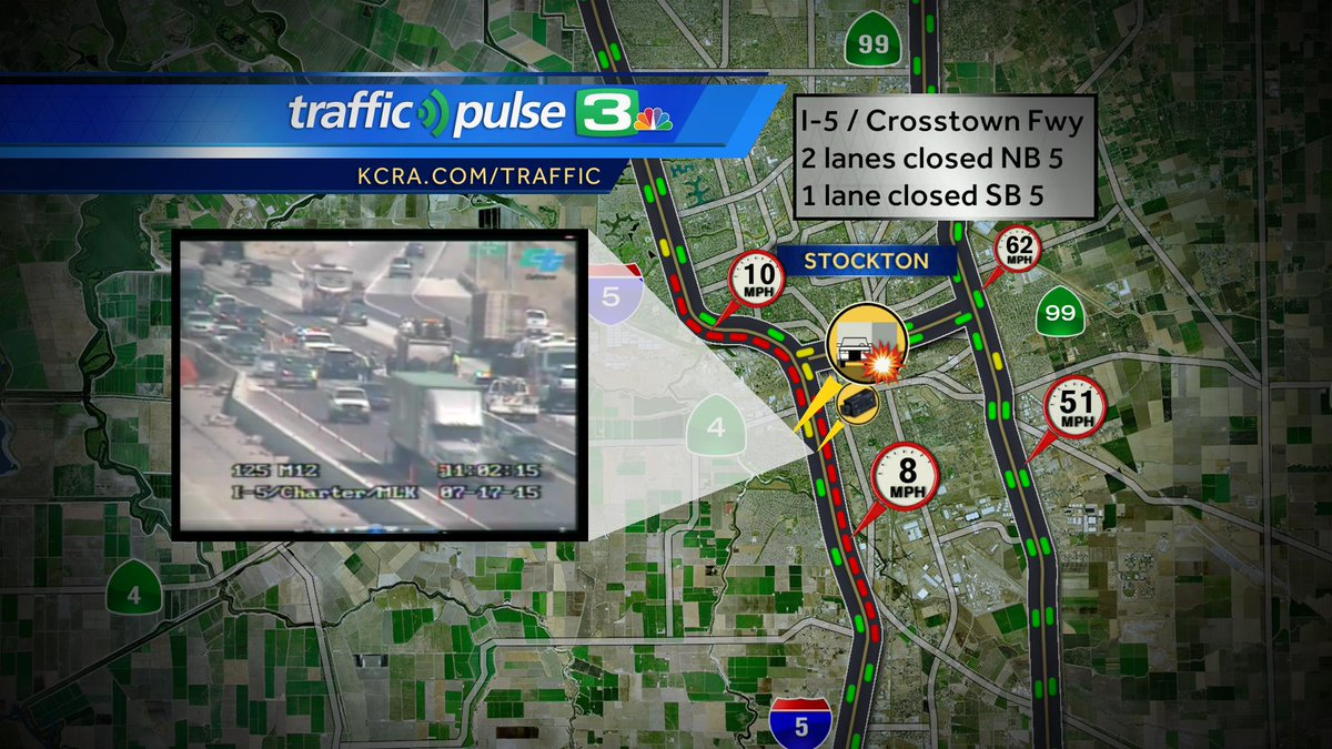 SigAlert Stockton Major delays directions Crosstown Fwy
