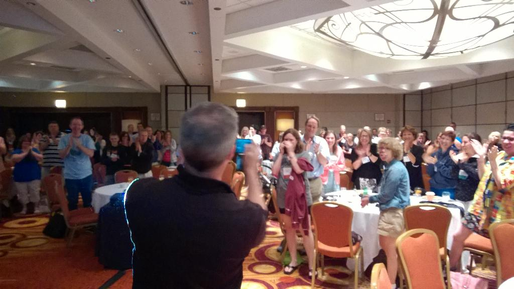 More laughs, wows, tears and a standing ovation at @sturgeweber conference with @PositiveExpo http://t.co/SlApCXs8z4