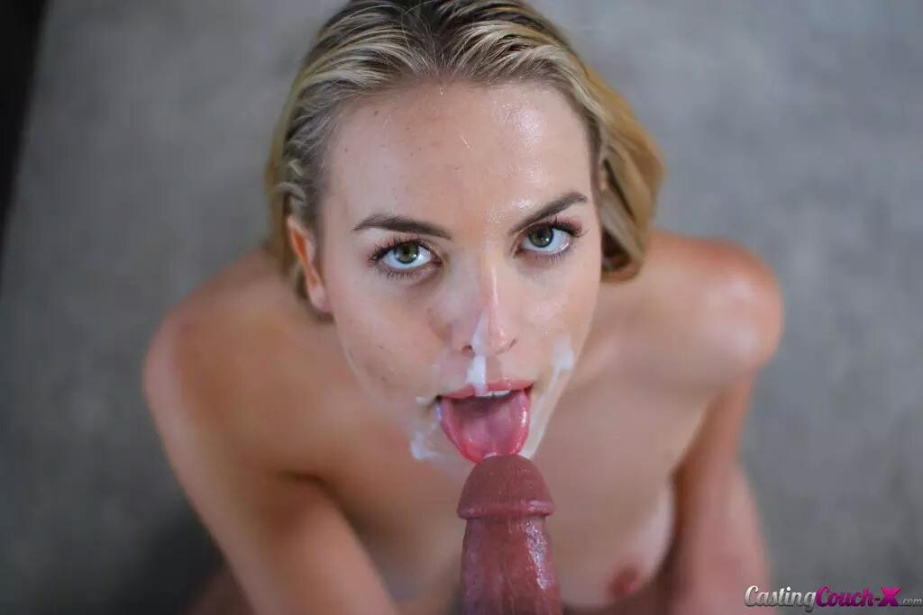 Roxy nicole plants her soft lips on your hard cock