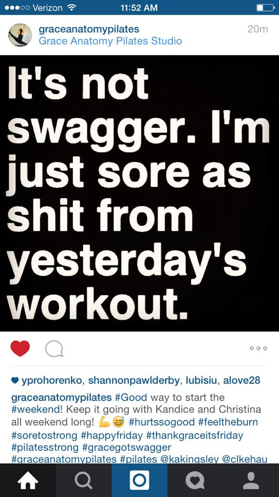 Loft 26 Pilates On Twitter Fitness Funny Swag Sore Pilates