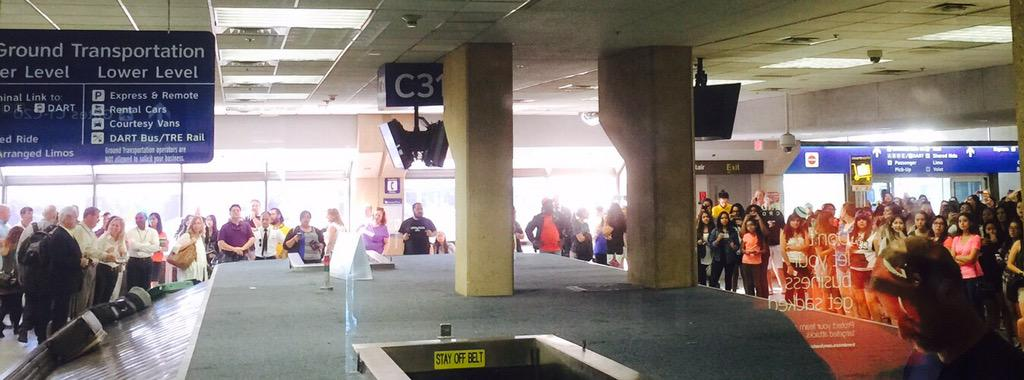 .@BTS_twt Rumor has it you're landing at #DFW soon. Seems you have some excited fans waiting! #TRBinDALLAS #DFWSummer http://t.co/D1OMZ5Y50p
