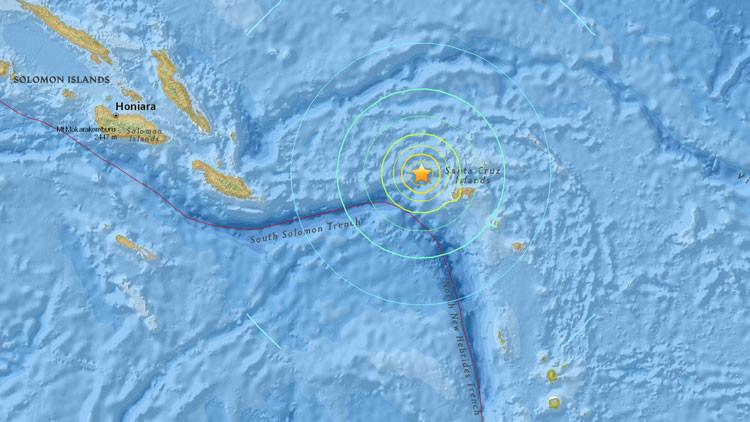 Terremoto Oggi Santa Cruz (Isole Salomone) con allerta tsunami