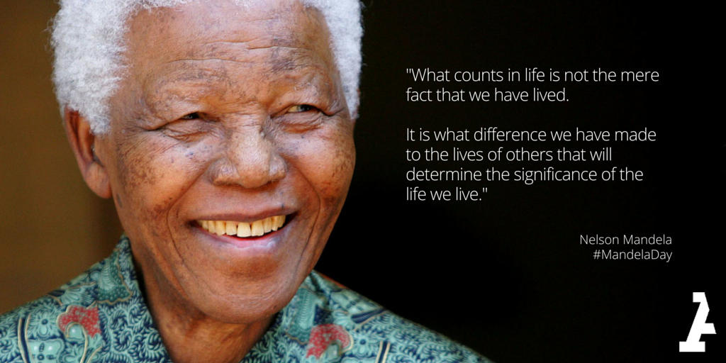 Happy #MandelaDay! The world can learn a lot from the grace, strength and courage of this giant http://t.co/FyM5CiFIKJ