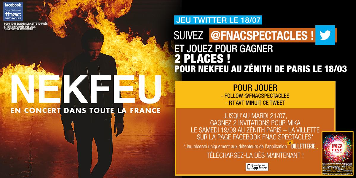 """Fnac Spectacles on Twitter: """"#JeuFS Gagnez 2 places pour ..."""