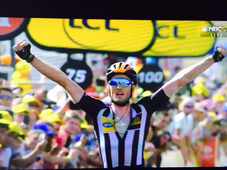Congrats @TeamMTNQhubeka @StevoCummings on the win today on #MandelaDay! #BicyclesChangeLives http://t.co/YRQxleths8 http://t.co/gl2ZEJQEu7