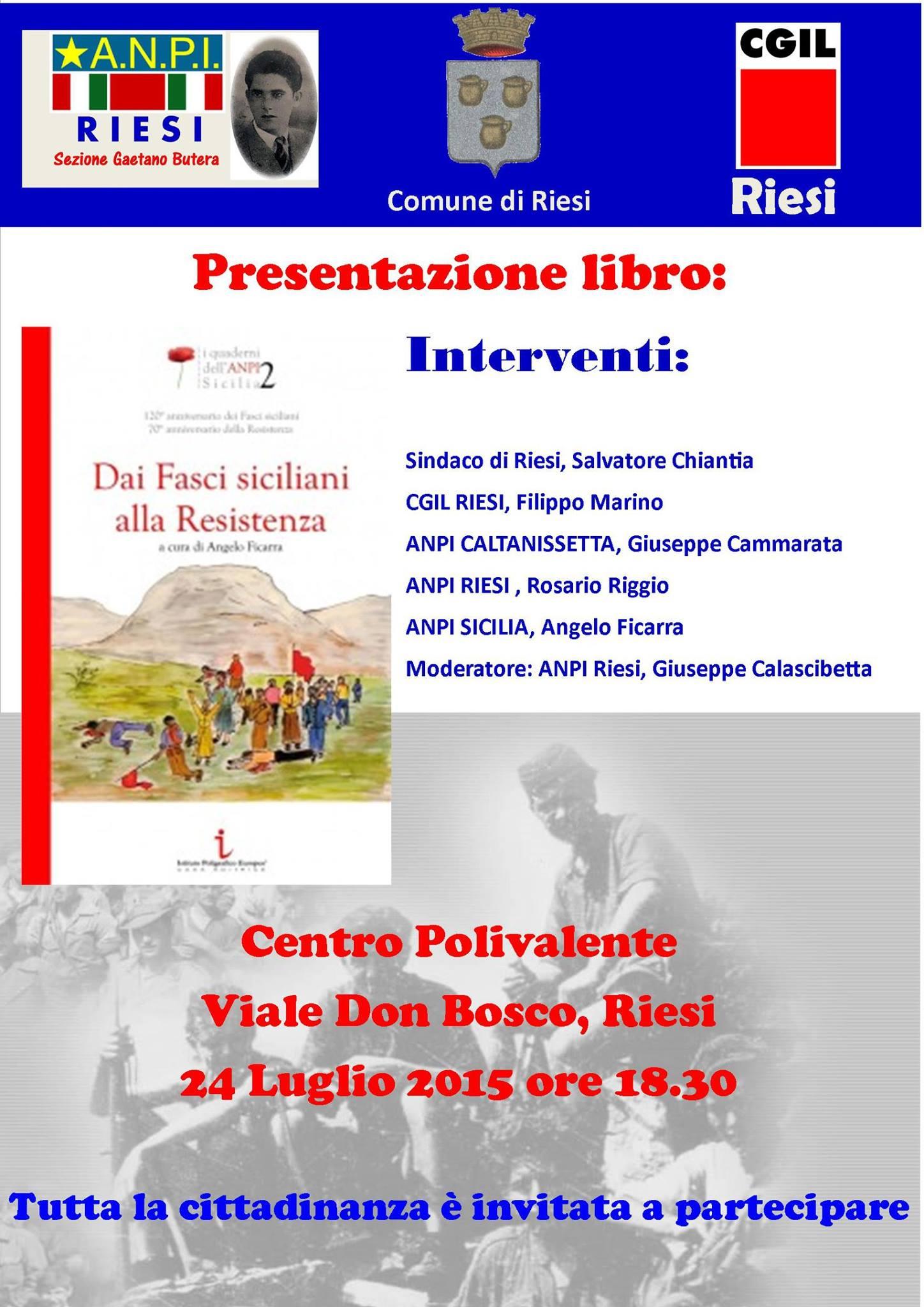 presentazione libro Angelo FICARRA a Riesi 24 Luglio 2015