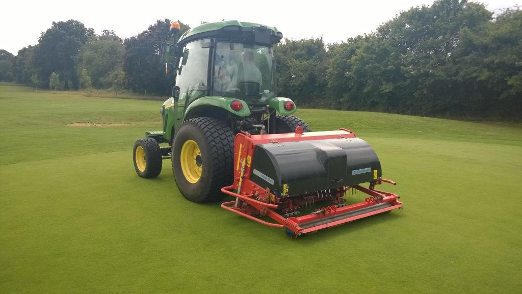 Much needed aeration on our greens completed this week. @Hassocksgc http://t.co/c6Juo8kNsc