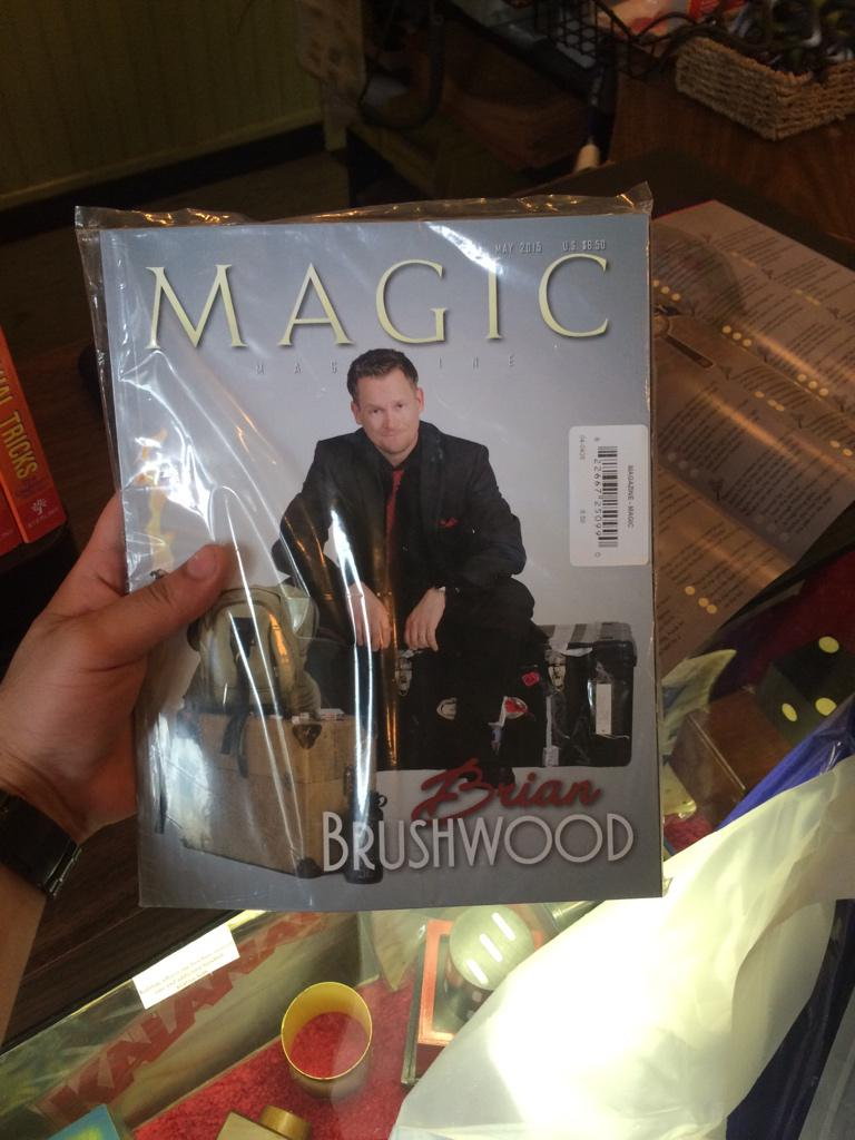 . @shwood The issue of Magic with you on the cover is on sale at Disneyland! http://t.co/FJZSHWFxqe